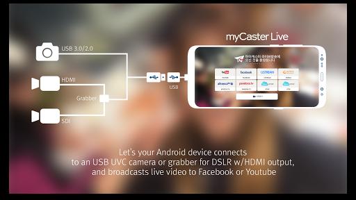 myCaster Live Stream to Youtube Facebook AfreecaTV 1.5.4.2 screenshots 2