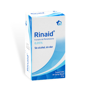 Rinaid 0.05% Spray Nasal   Frasco x10g. TQ Furoato de Mometasona
