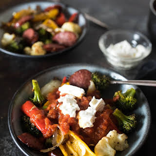 One Pan Roasted Sausage and Vegetables.