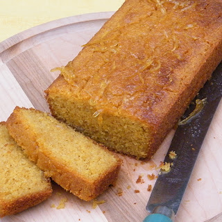 Sticky Lemon Polenta Cake