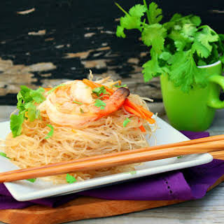 Fen Si with Shrimp (Chinese Glass Noodles).