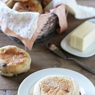 Homemade Cranberry Walnut English Muffins