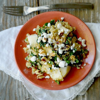 Winter Quinoa, Kale and Pear Salad.
