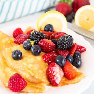 Lemon Berry Crepes.