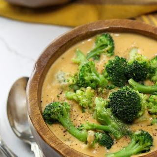 Sweet Potato Broccoli Cheese Soup.