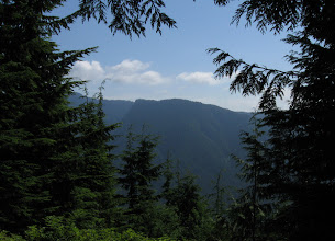 Photo: View of Seymour mountain range (to the east) from the trail to Lynn peak