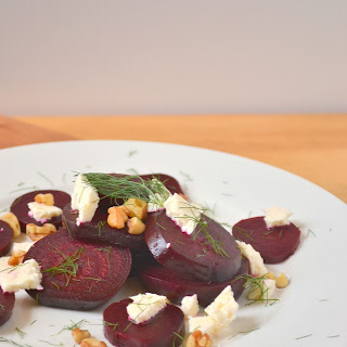 Roasted Beets with Feta and Dill.