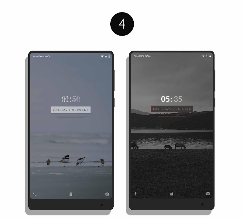 MNML Digital Clock Mods [Substratum] Screenshot 7