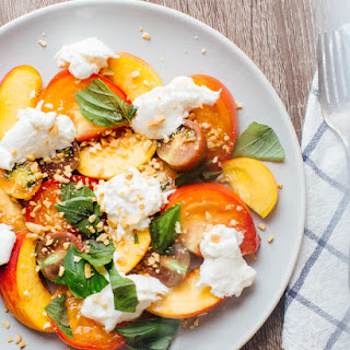 Peach, Heirloom Tomato and Burrata Sald