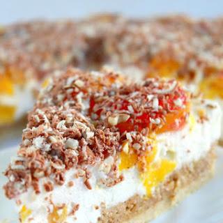 Peach Raspberry Cheesecake