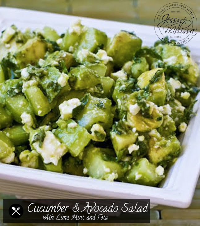 Cucumber and Avocado Salad with Lime, Mint, and Feta Recipe | Yummly