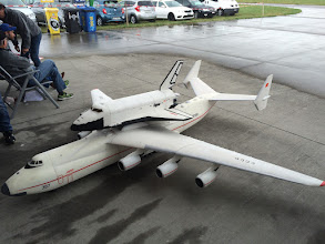 Photo: This Russian RC version of the Space Shuttle gets ready to do a flight and glide back to earth. Very good display!