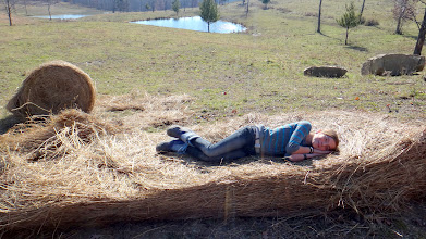 Photo: Meghan rocking a hay bed