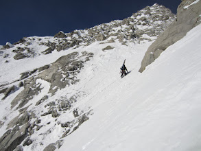 Photo: Access to couloir