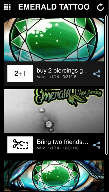 EMERALD TATTOO & PIERCING- screenshot