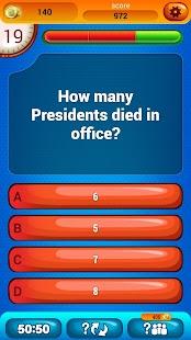 USA Prezidentů Drobnosti Kvíz - náhled