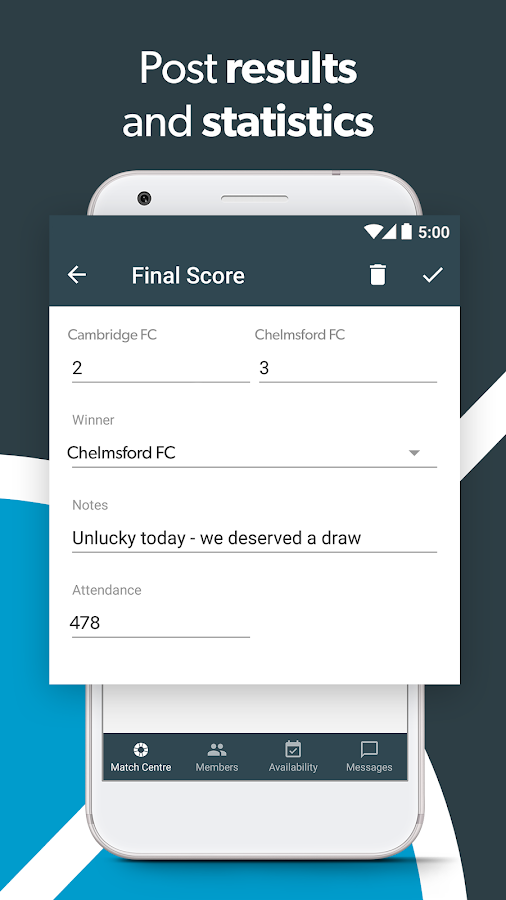 Pitchero Manager- screenshot