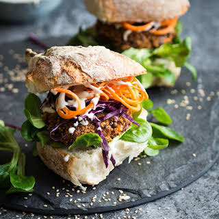 Vegan Quinoa and Kidney Bean Burgers.