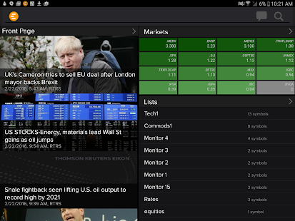 Thomson Reuters Eikon- screenshot thumbnail