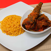 Jollof Rice and Whiting Fish