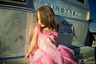 Photo: Girl in Pink Dress, Black Rock City