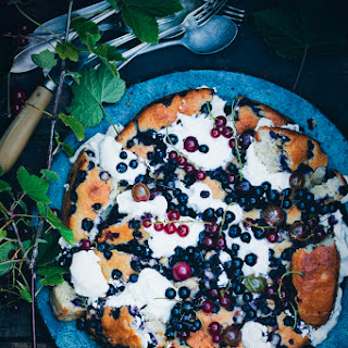 Shattered Blueberry & Yogurt Cake