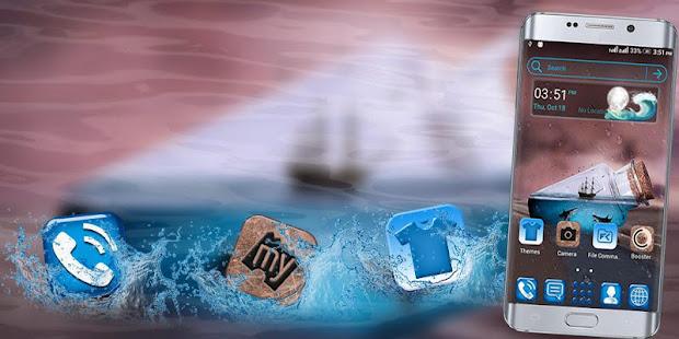 Sea Bottle Launcher Theme - náhled