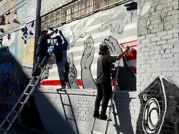 Work in progress on Clarion Alley.