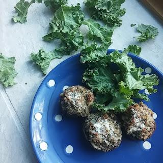 Kale Stuffed Mushrooms