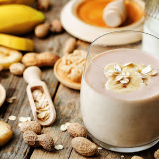 Banana and Peanut Butter Smoothie.