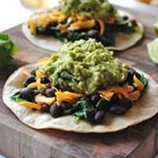 Easy Spinach, Black Bean and Guacamole Tostadas Recipe