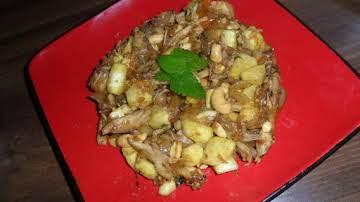 Spicy Chicken, Zucchini and Cashews w/orange glaze