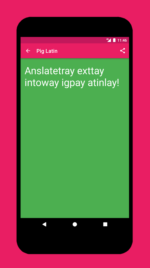 How to write in pig latin