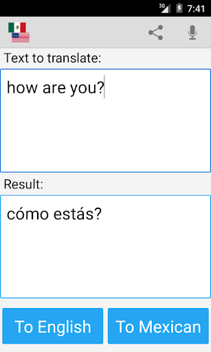 Mexican Translator Pro screenshot 1