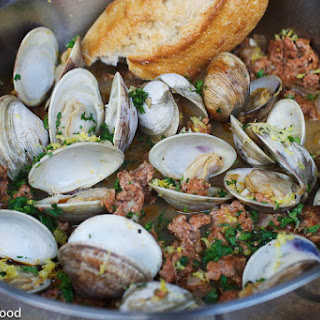 Clams & Chorizo in White Wine Sauce
