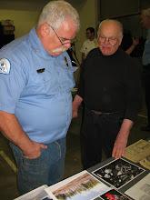 Photo: Captain Scott Weston (left) and former fire chief Myron Richardson