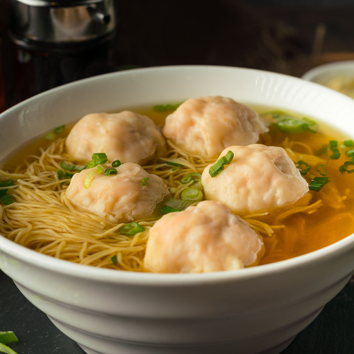 Shrimp Wonton with Egg Noodle in Soup