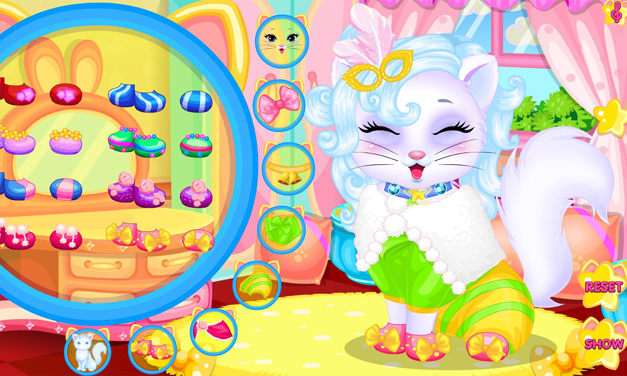 Baby kitty hair salon- screenshot