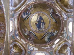Photo: Palermon katedraalin keskitornin mosaiikkikupoli.