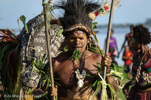 Papua. New Guinea East Sepik River Clans Crocodile Traditions. Crocodile Dance