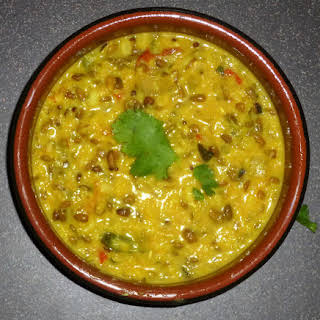 Spiced Coconut Split Mung Bean Dal.