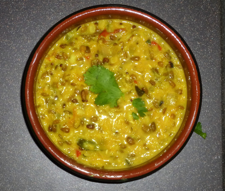 Spiced Coconut Split Mung Bean Dal