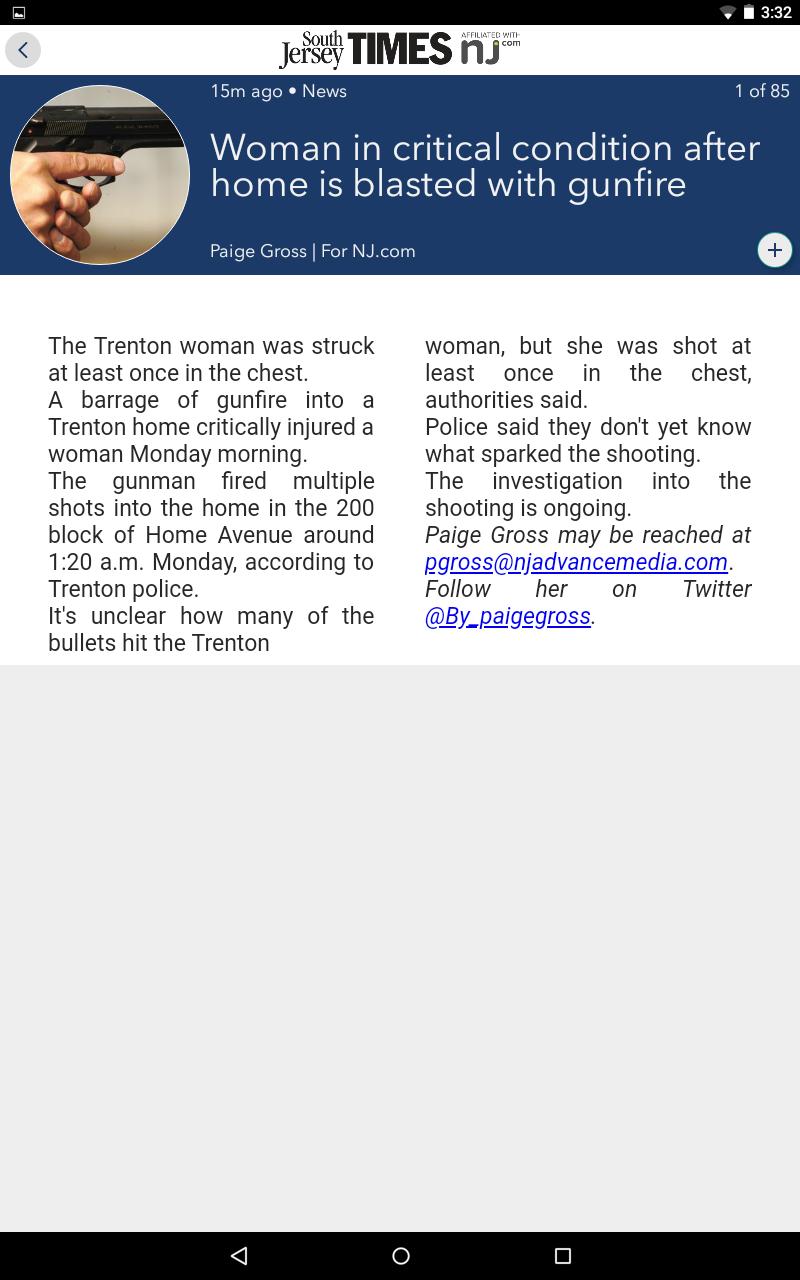 Скриншот South Jersey Times
