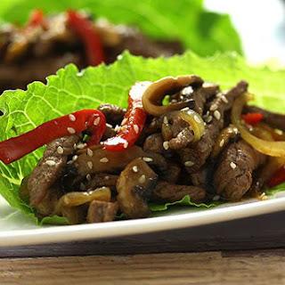 Steak & Mushroom Lettuce Cups