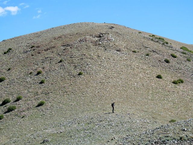 Last steep climb toward Kimble and Turner Peak