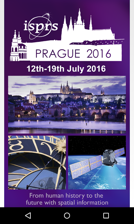 ISPRS 2016 Prague Attendee App- screenshot