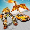 Multi Transforming Flying Dragon Robot Shooting icon