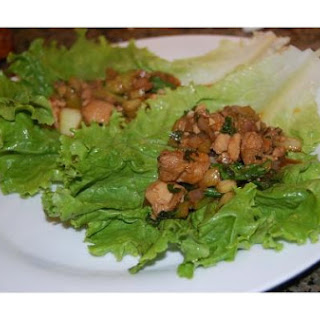 Asian Barbecue Chicken Lettuce Wraps