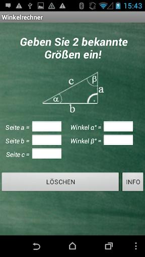 Winkelberechnung Dreieck