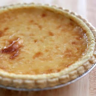 Lemon Cheesecake Pie With Whipped Cream.